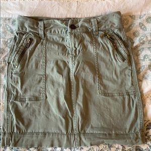 Old Navy Green Khaki Cargo Mini Skirt